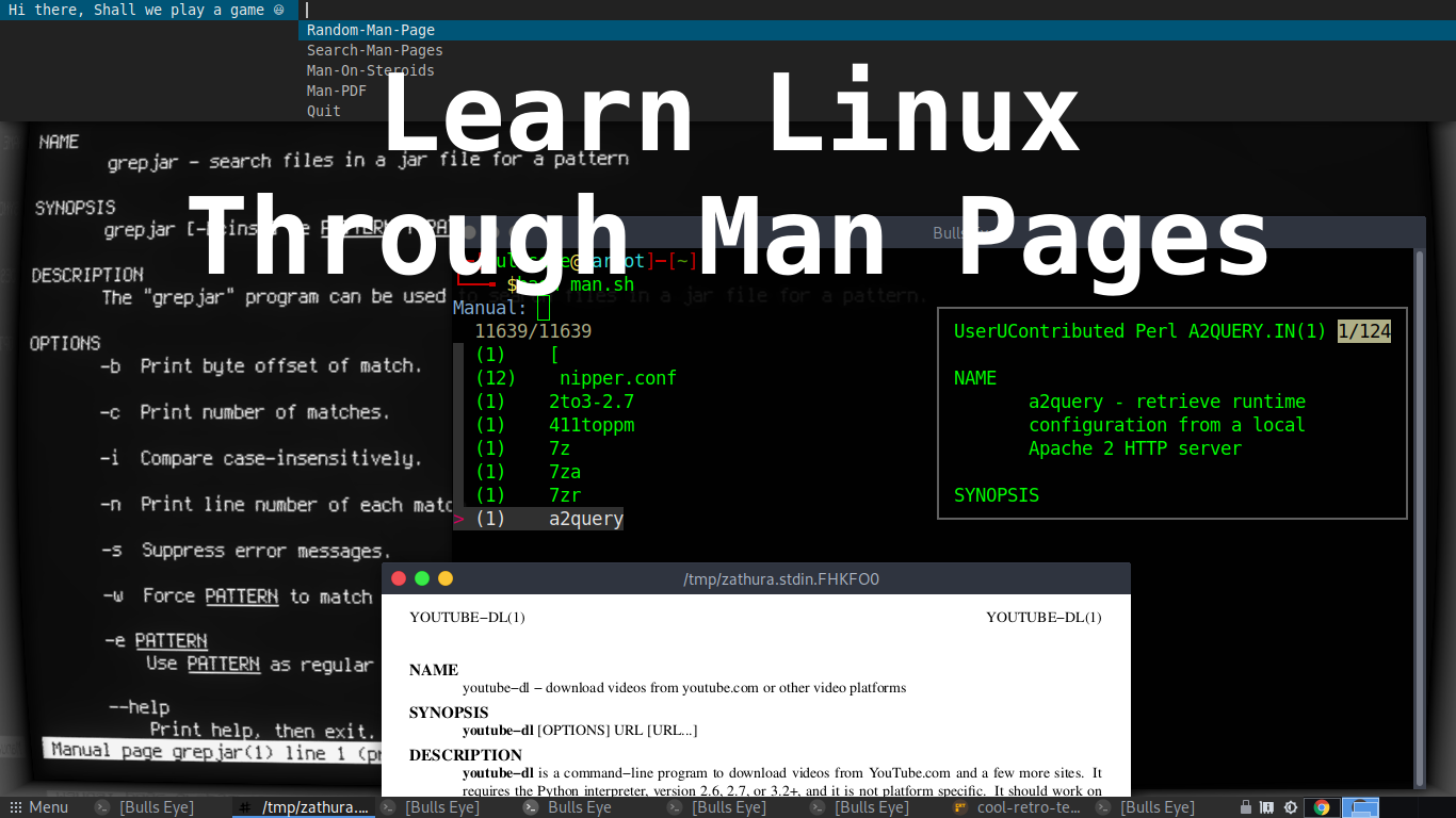 Learn Linux Through Man Pages